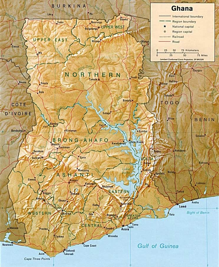 Ghana Karte.Ghana